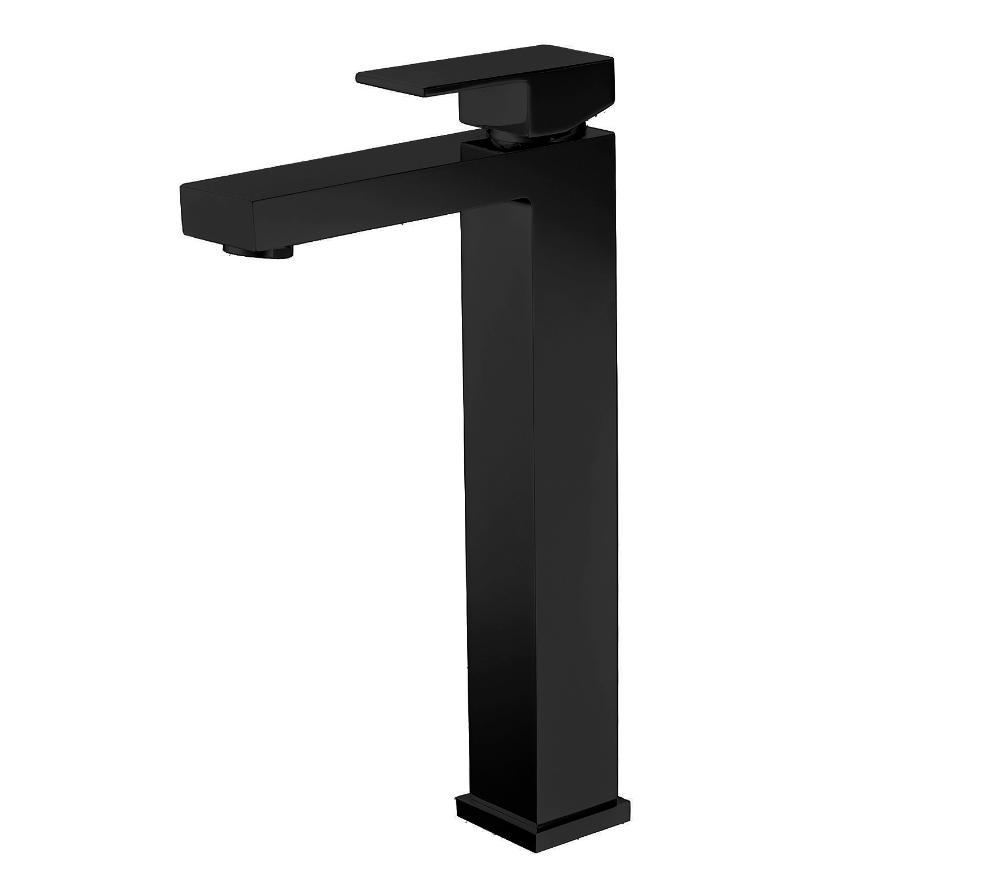 Best Design Aprica Nero hoge wastafelmengkraan 31 cm mat zwart