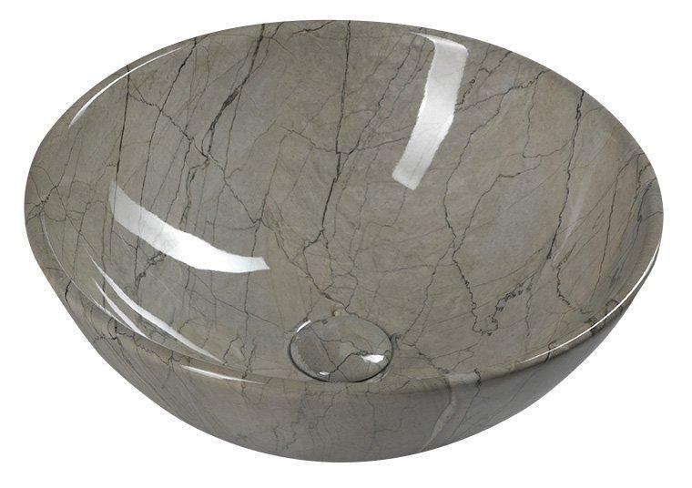 Sapho Dalma waskom 42x42x16,5 cm grijs