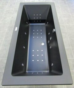 Xenz Society 180x90 bubbelbad elektrische bediening met heater mat zwart