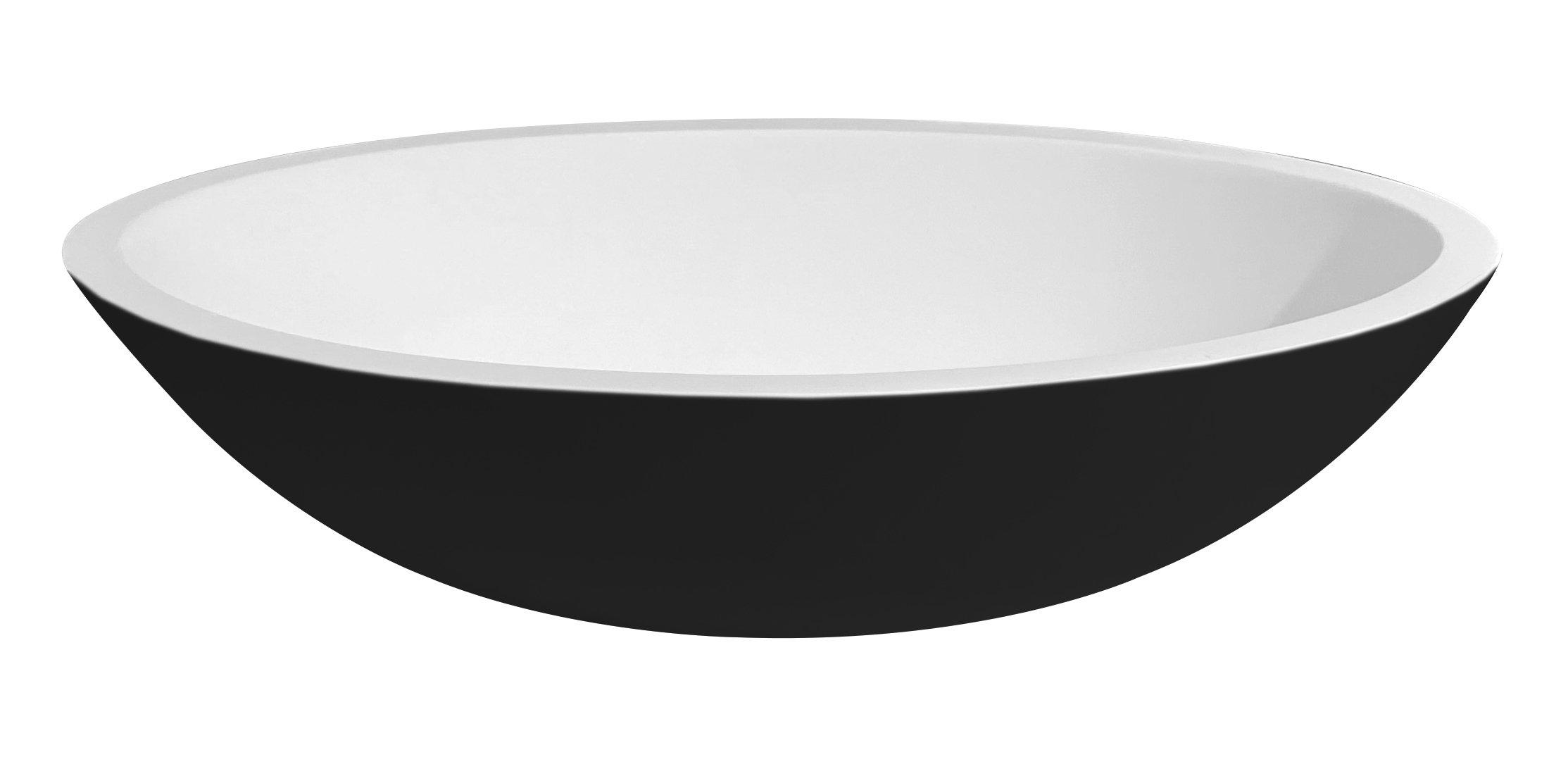 Best Design Epona waskom Just-Solid 52cm bicolor mat zwart/wit