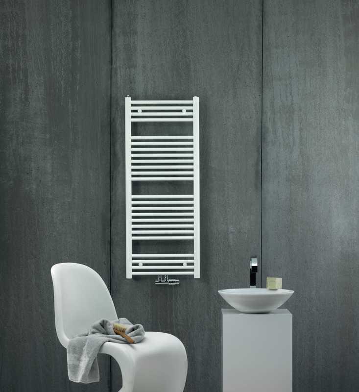 Zehnder Aura designraditaor middenaansluiting 77.5x50cm wit