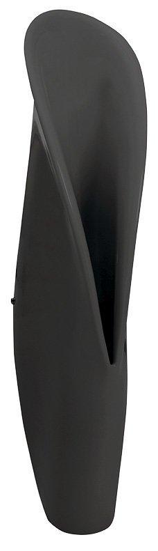 Groove urinoir keramiek 29,5x128x36 mat zwart