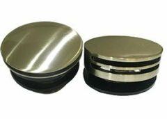 Wiesbaden Basis rond knop/waste geborsteld staal