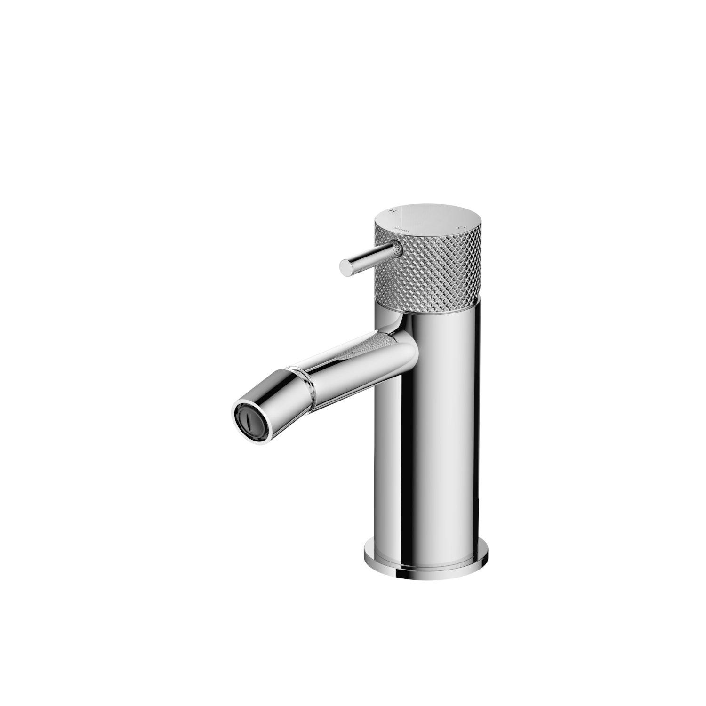Hotbath Cobber X CX018 bidetmengkraan zonder waste geborsteld nikkel