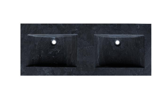 Trend stone 120 dubbele wastafel 0 of 2 kraangaten natuursteen