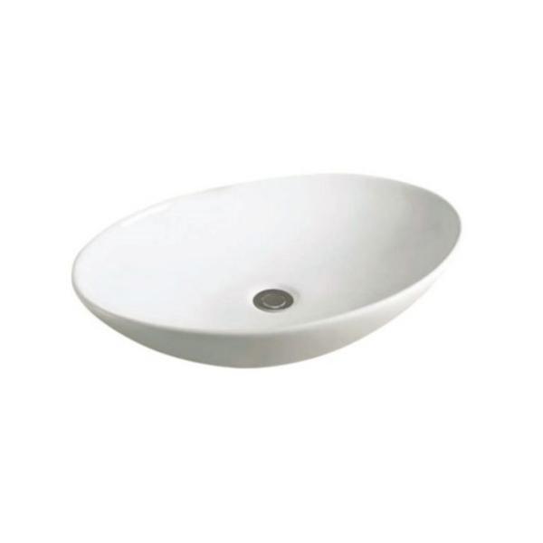 Best Design Ovaal opbouw waskom 50x43 glans wit