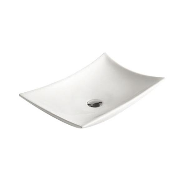 Best Design Raaf opbouw wastafel met kraangat 56x37 glans wit