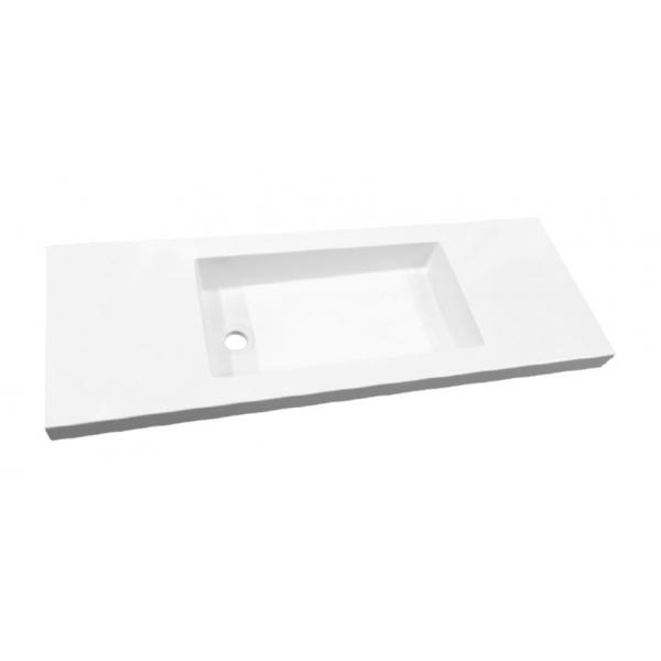 Best Design Slim wastafel zonder kraangat 100cm glans wit