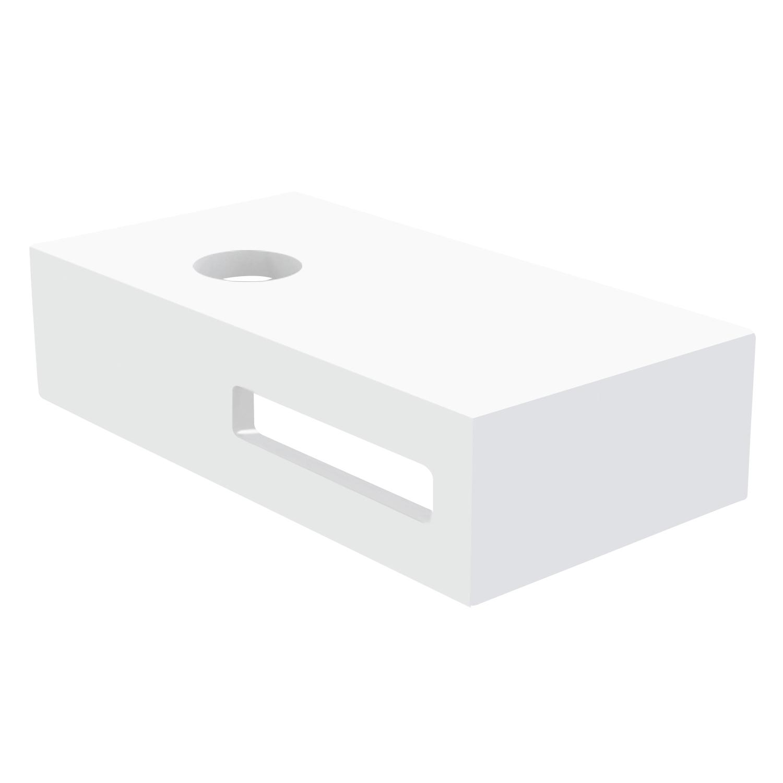 Best Design Malo fontein planchet Just Solid 40x21 glans wit