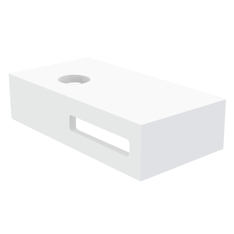 Best Design Malo fontein planchet Just Solid 40x21 mat wit