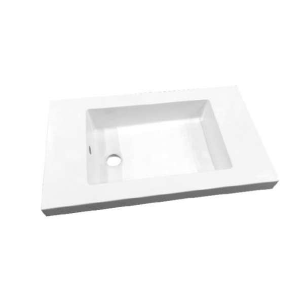 Best Design Slim wastafel zonder kraangat 60cm glans wit