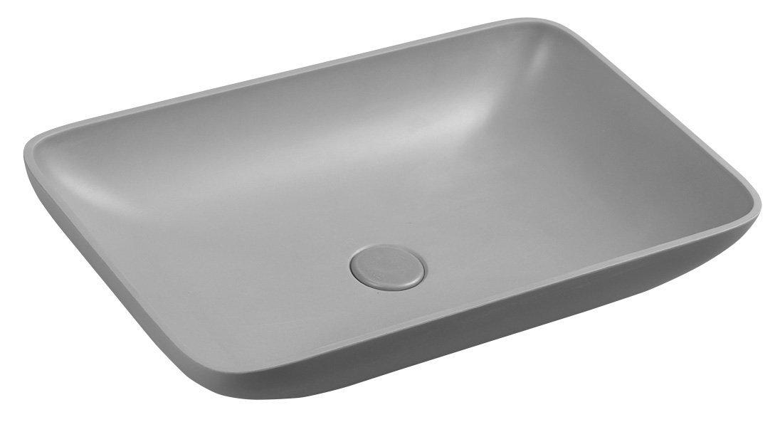 Sapho Infrane betonnen wastafel 57x37 grijs