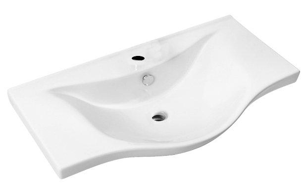 Aqualine wastafel voor meubel 80x46 wit